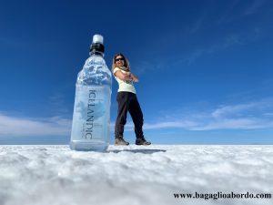 in viaggio con una bottiglia in Bolivia