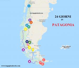percorso turistico in Patagonia tra Cile e Argentina